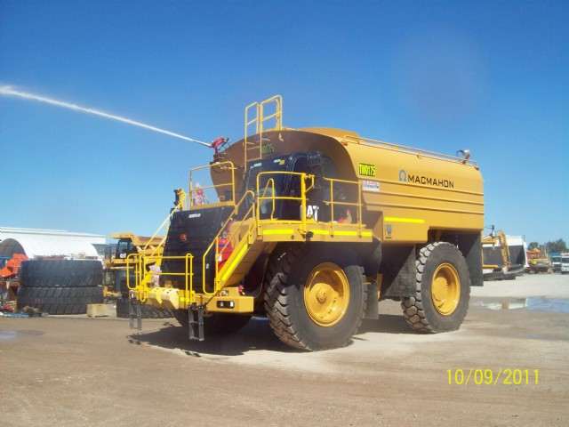 Cat 777F Water Truck mobilised to Boddington Gold Mine