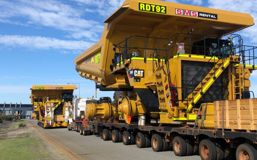 Our New 789D Fleet Heading to our Rental Client in the Pilbara on a 3 year rental agreement